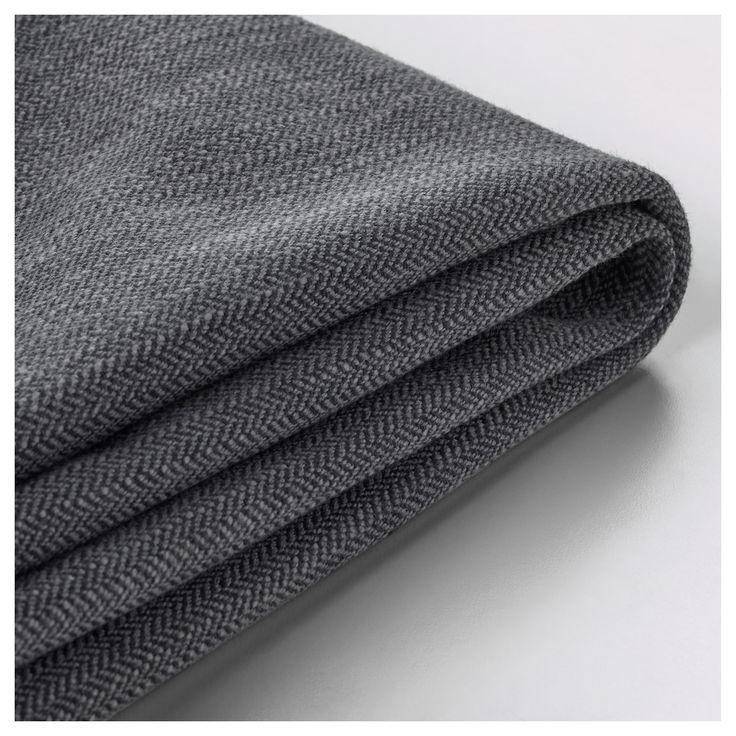 IKEA - STOCKSUND Armchair cover Nolhaga dark gray