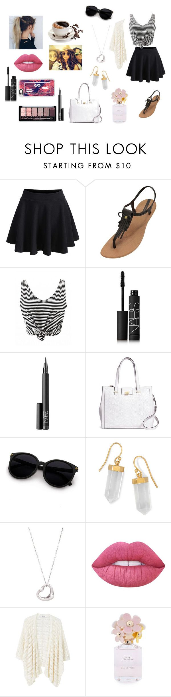 """""""Lunch with friends"""" by netballzoe5656 ❤ liked on Polyvore featuring WithChic, IPANEMA, NARS Cosmetics, Brooks Brothers, BillyTheTree, Tiffany & Co., Lime Crime, MANGO, Kendall + Kylie and Marc Jacobs"""