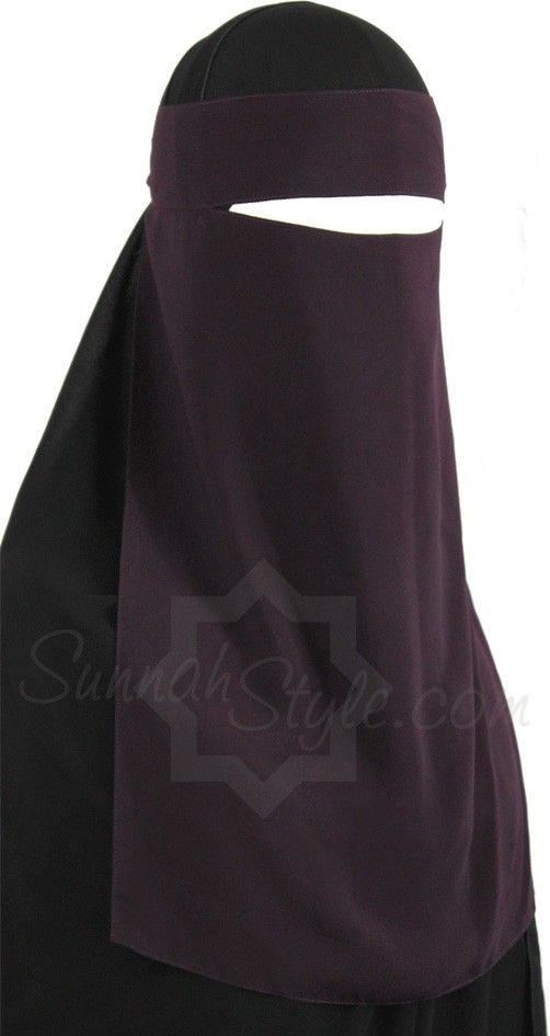 1 layer niqaab Sunnahstyle aubergine - Hijab Now
