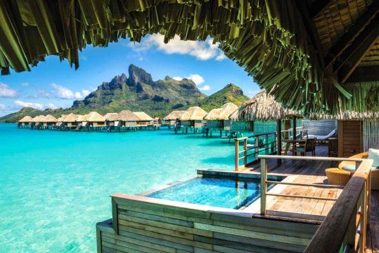 Plunge pool at Four Seasons Resort Bora Bora