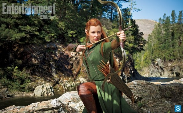 Evangeline Lilly as Tauriel or rather Link