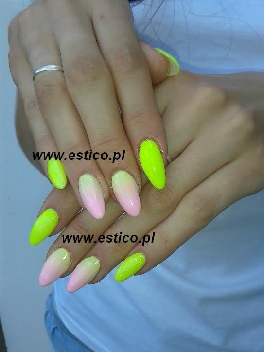 gel nails, neon nails