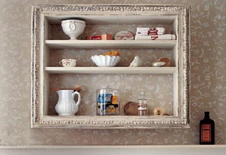 Cool-Bathroom-Shelf-Decorating-Ideas-with-Wallpaper