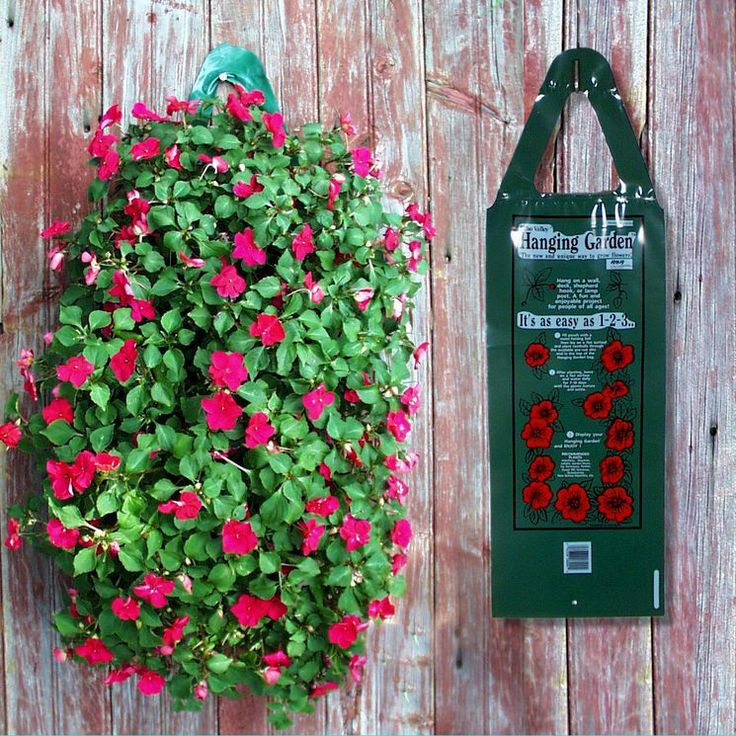 Hanging garden flower bag garden dreams pinterest Ideas for hanging backpacks