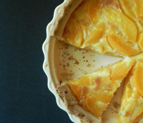 Peach Custard Pie (canned peaches out-of-season)