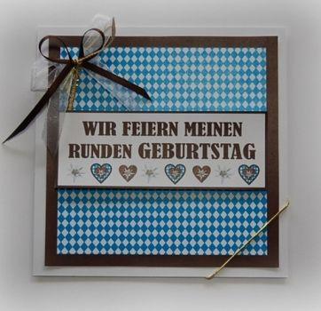 """Einladungskarten """"Bayern"""" zum RUNDEN Geburtstag"""