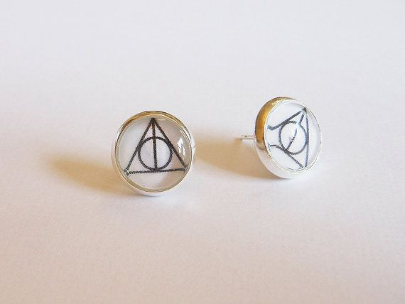 Deathly Hallows Stud Earrings Objects Harry Potter Harry Potter