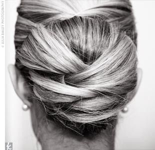 My Hair Idea : wedding bun styles updo wedding hair Knotted Hair