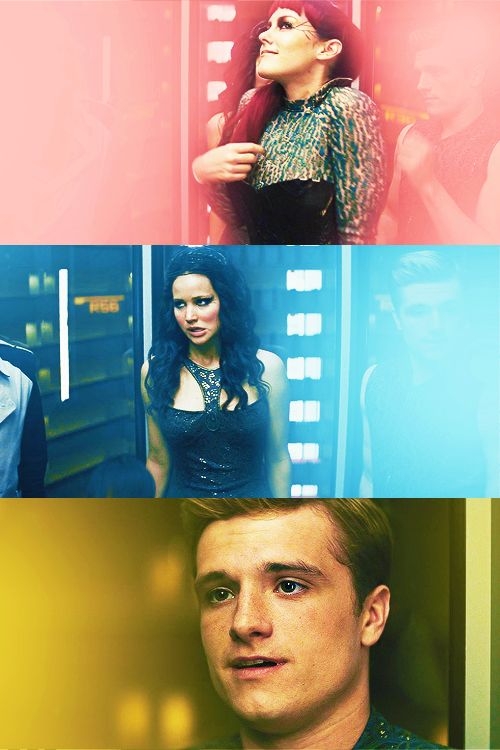 I was laughing at katniss's face THROUGH THAT WHOLE SCENE! That and how mesmerized Peeta and Haymitch were. Lol.