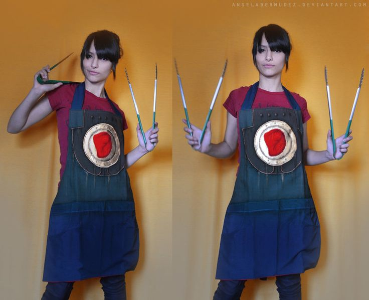 The Handyman apron by AngelaBermudez.  The Handyman is a character from the BioShock PC game.