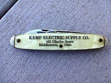Vintage 1960'S Middletown Ohio KEMP ELECTRIC SUPPLY COMPANY LIPIC POCKET KNIFE