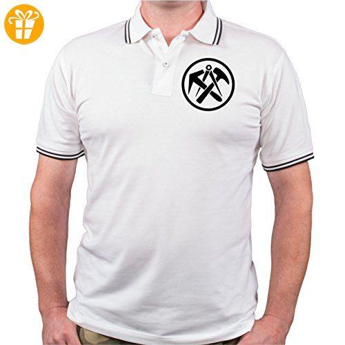 Männer und Herren POLO Shirt DACHDECKER wurden erschaffen (mit Rückendruck) (*Partner-Link)