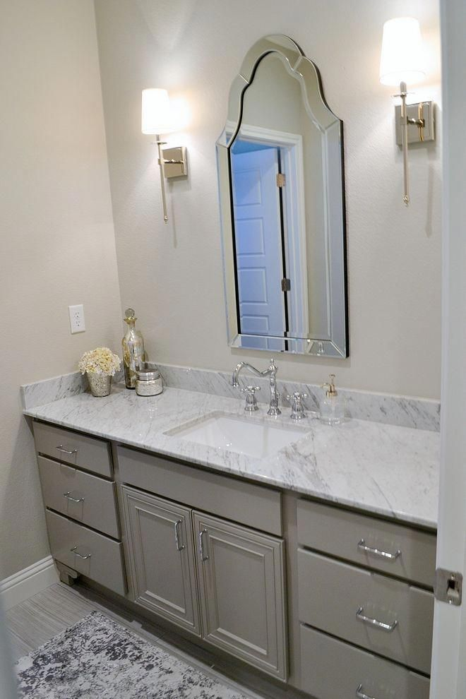 Grey Bathroom Cabinet Paint Color Sherwin Williams Dorian Gray Bathroomcabinet Bathroom Cabinets Designs Grey Bathroom Cabinets Painting Bathroom Cabinets