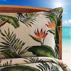 The Hot Tropic Cream Duvet Cover is made in the USA of 100% cotton material. The Hot Tropic Black Duvet Cover are great to add a new look to any room in your beach home. Dean Miller Surf Bedding has a wide selection of Surfer Duvet Covers available.