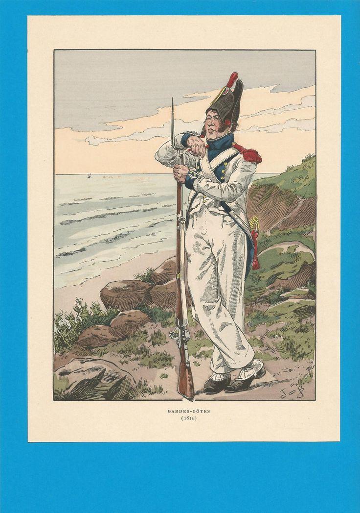 France-Planche de JOB - 1810. Gardes-Côtes.