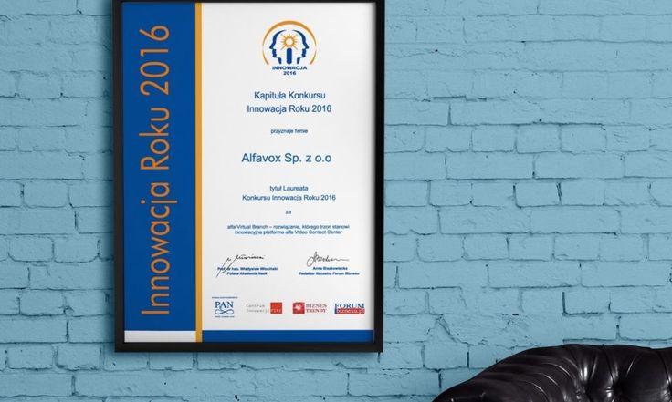Nagroda Innowacja Roku 2016 trafiła do Alfavox za alfa Virtual Branch.