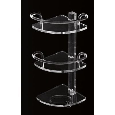 Toscanaluce by Nameeks Tiered Glass Wall Mounted Shower Caddy Shelves: T