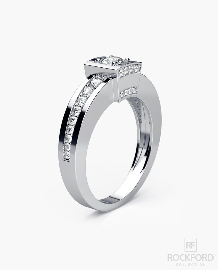 VULTURE Gold Mens Wedding Ring with 0.90 ct Diamonds