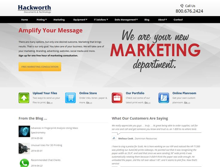 We've redesigned our website! Check it out at http://www.hackworth.co