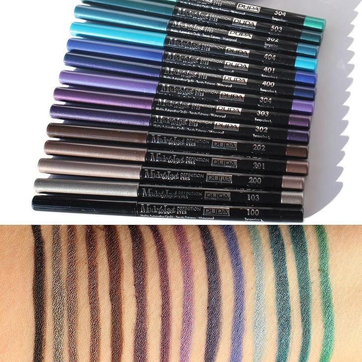 Ecco le spettacolari matite occhi @pupamilanoitaly Made To Last Definition: colore intenso e brillante abbinato a massima durata! Quale colore vi piacerebbe provare? Noi abbiamo perso la testa per quelle viola! #pupa #pupamilano #makeup #eyepencil #beauty #instabeauty #makeupartist #makeupjunkie #swatch #beautydea