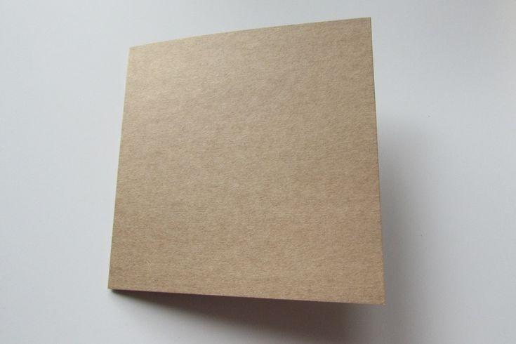 Baza na kartkę 150x150mm - kraft :: Eco Scrapbooking