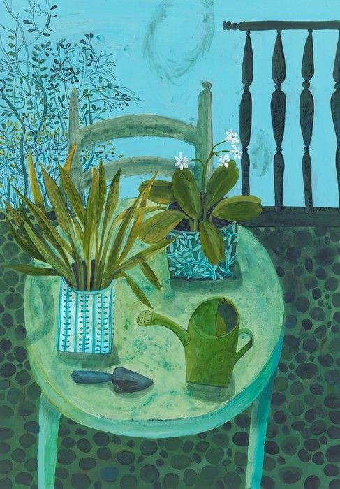 este macleod: summers day with watering can