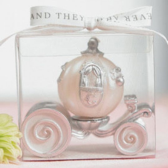 Cinderella Wedding Carriage Candle Favors