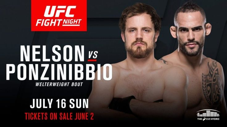 Watch UFC Fight Night 113: Nelson vs. Ponzinibbio 7/16/2017 16th July 2017 (16/7/2017) Full Show Watch UFC Fight Night 113 Glasgow, Scotland Live Stream and Full Show Watch Online (Livestream Links)