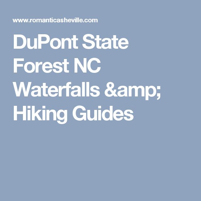 DuPont State Forest NC Waterfalls & Hiking Guides