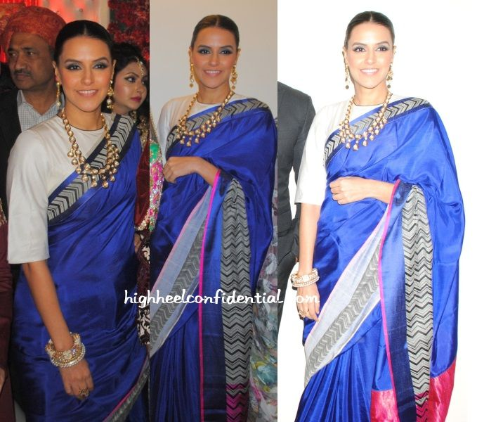 neha-dhupia-raw-mango- love the blouse style