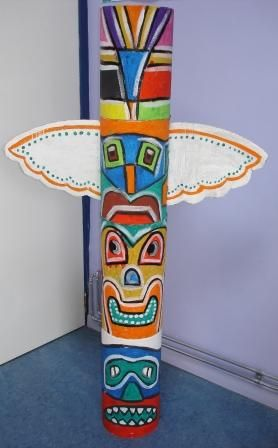 Indian totem for a pow wow birthday party