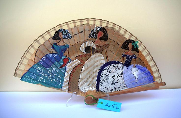 853 best abanicos images on pinterest hand fans painted - Abanicos para pintar ...