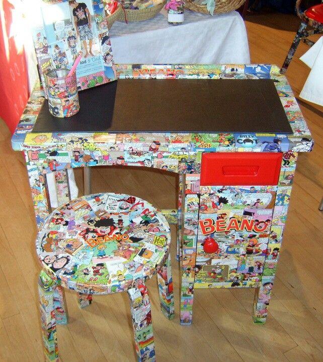 Beano decoupage furniture