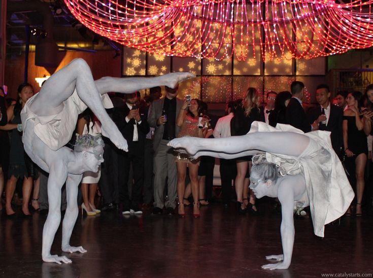 Contortionist venetian statues by Catalyst Arts Entertainment San Francisco