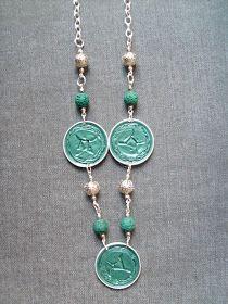 nespressart bijoux: collana lunga verde smeraldo