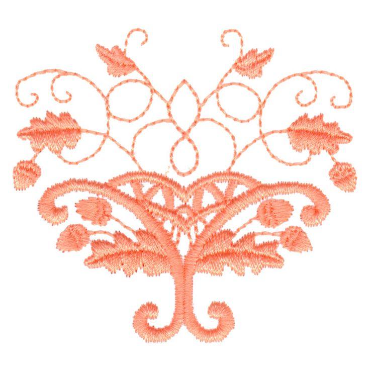 Free embroidery design oak leaves