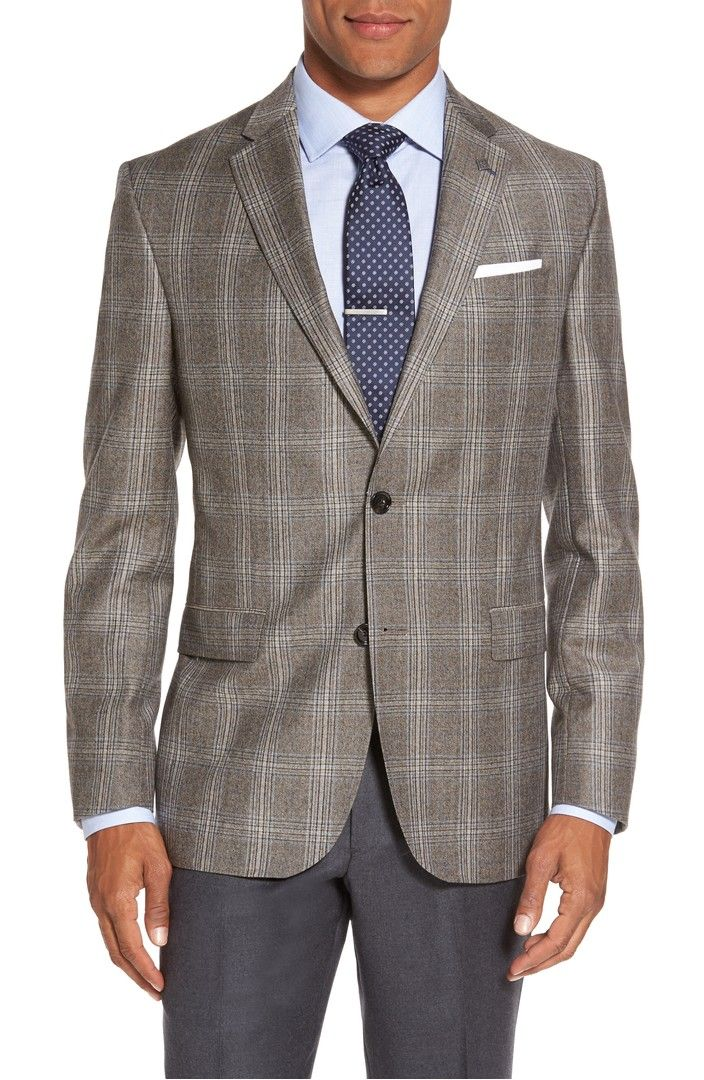 fdfa21f1a374 Main Image - Ted Baker London Jay Trim Fit Plaid Wool Sport Coat ...