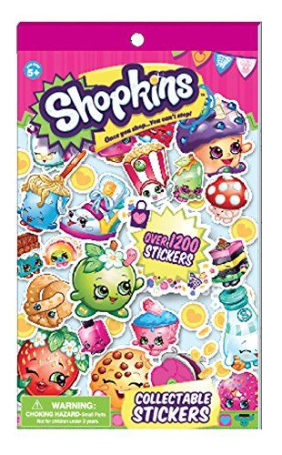 Shopkins Collectible Sticker Book-Over 1200 Stickers...