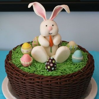 17 best easter images on pinterest decorating cakes anniversary easter basket cake negle Gallery