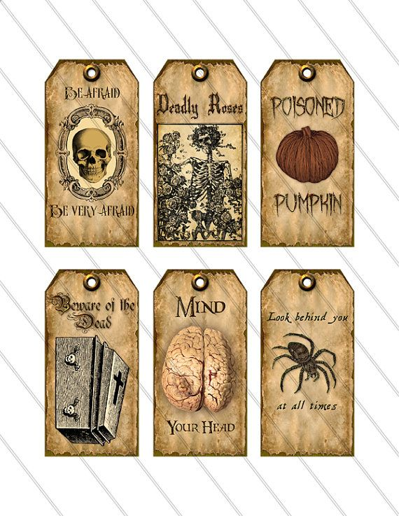 Halloween Tags Halloween labels instant by VectoriaDesigns on Etsy