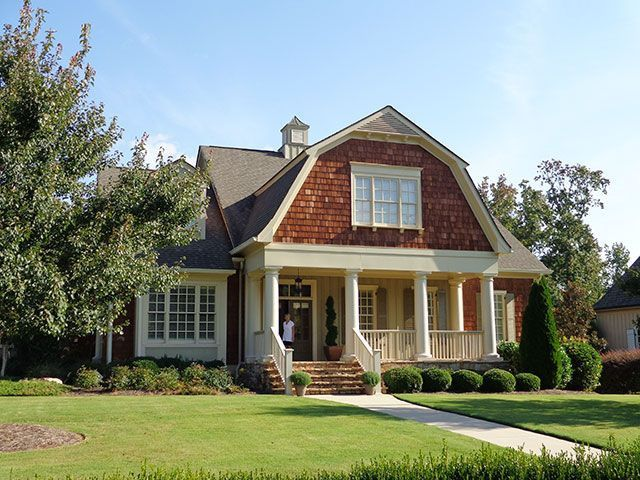 Shingle Style Gambrel Roof Google Search Colonial House Exteriors Country Cottage House Plans Dutch Colonial Exterior