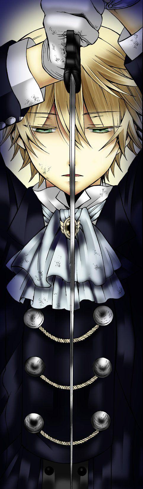 Pandora Hearts Oz Vessalius  Really love his expression >_< so cool that way!