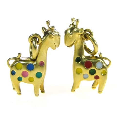 Gerochristo: Gold plated sterling silver and Hand Painted Enamel Made in Greece