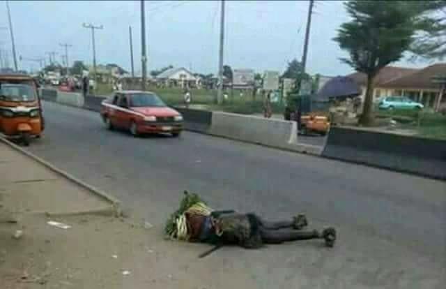 Masquerade Killed By Speeding Cab Driver In Akwa Ibom State. Photos