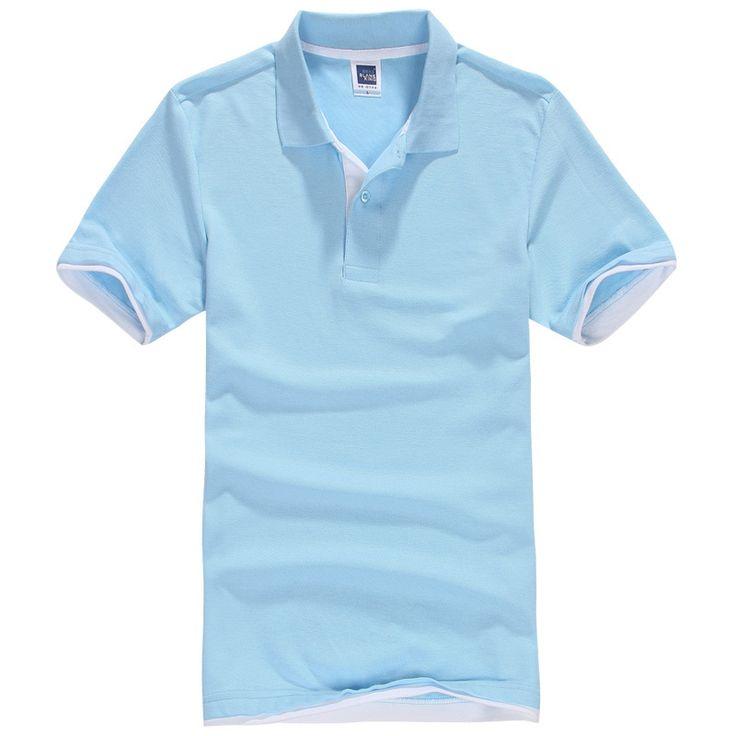 Brand New Men's Polo Shirt Men Cotton Polyester Polo Shirts Short Sleeve shirt Plus Size XS-3XL mens polo shirt