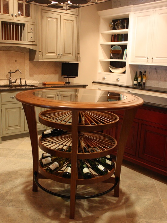Kitchen Island Wine Rack Stuff Pinterest Wine