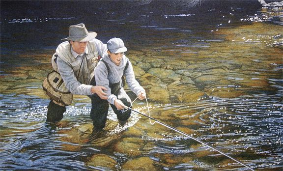94 best for the cabin images on pinterest acrylic art for Fly fishing art