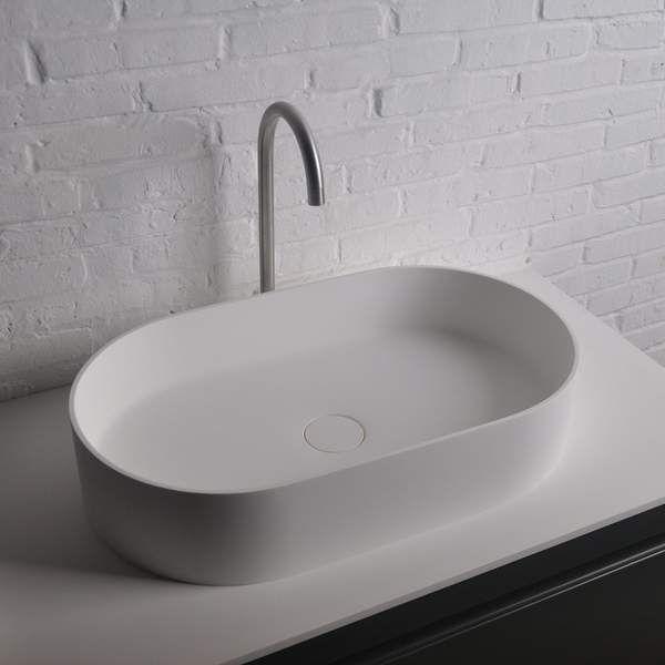 Solidthin Elongated 15 In Washbasin Vessel Sink Bowl Above Counter Lavatory Bathroom Sink Bowls Above Counter Bathroom Sink Sink