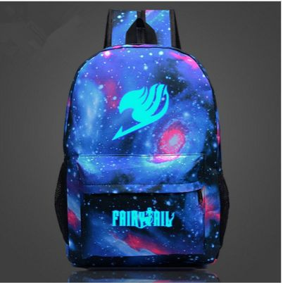 Hey, grab your fairy tail back and be reminded of this great anime every day. Bag type: Softcover Main material: Nylon Pockets: Phone pocket, zipper pocket outside and inside, main pocket Gender: Unis
