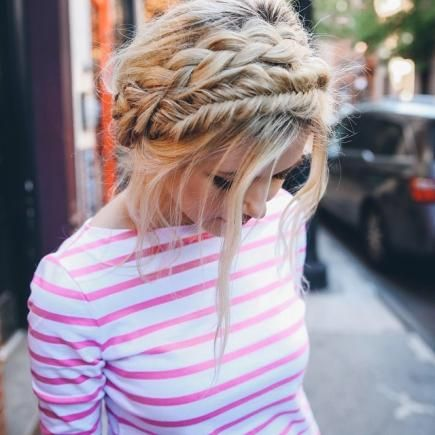 Braid-obsessed NYC blogger Amber Fillerup Clark is the brains and hair behind style and beauty blog Barefoot Blonde and …